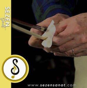 keman arşe (yay) temizliği